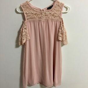 As U Wish Cold Shoulder Dress